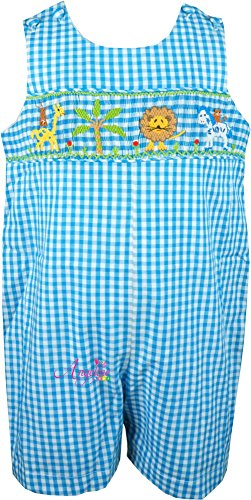Baby Boys Summer Holiday Safari Forest Friends Turquoise