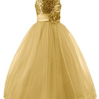 Mermaidtalee Long Sequin Top Tulle Flower Girl Dresses