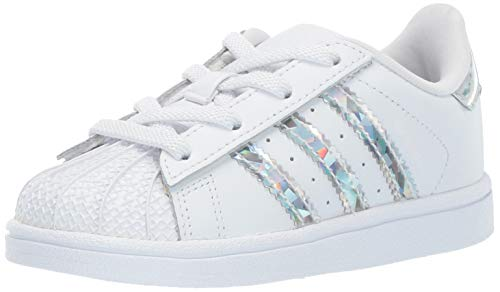 adidas Originals Baby Superstar Running Shoe, White
