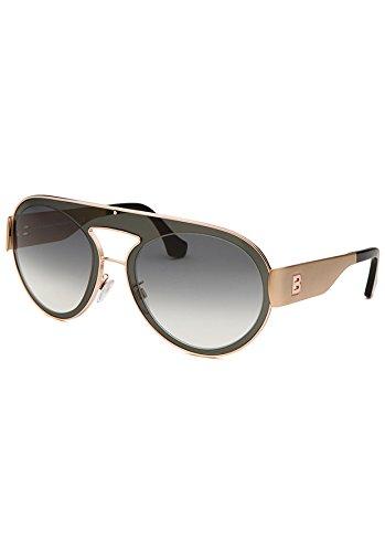 Balenciaga Women's Fashion Gold-Tone and Grey Sunglasses
