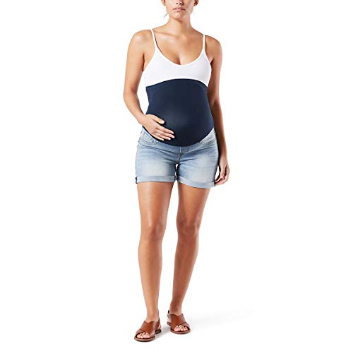 Signature by Levi Strauss & Co Women's Maternity Mid-Rise Shortie Shorts