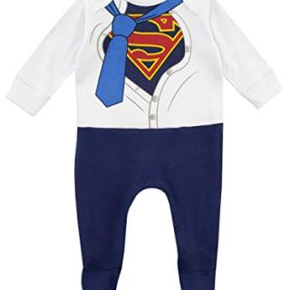 DC Comics Baby Boys' Superman Footies Size 0-3M Blue