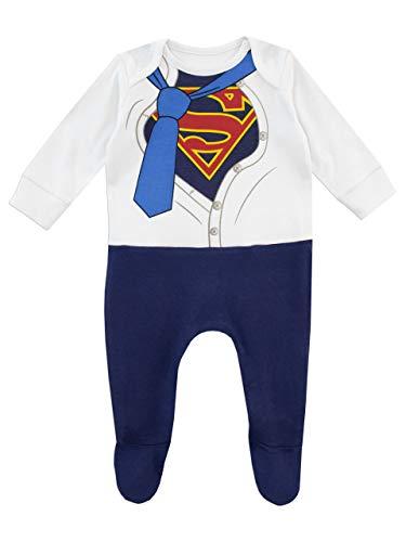 DC Comics Baby Boys' Superman Footies Size 0-3M Blue