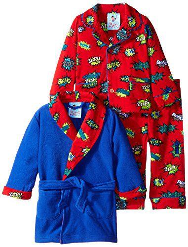 Baby Bunz Baby Boys' 3 Piece Pow Robe and Pajama Set