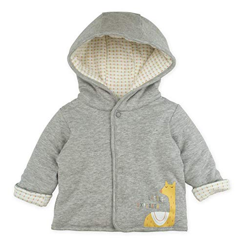 Baby Boy Baby Girl Cardigan, Heather Grey Hooded Cardigan Jacket