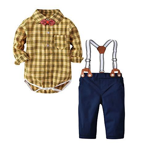 Newborn Baby Boys Gentleman Outfits Suits, Infant Romper Jumpsuit