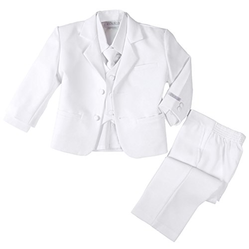 Spring Notion Baby Boys' Formal White Dress Suit Set 18M (Large)