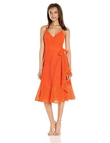 de6e1e565b Trina Turk Women s Kacie Embarcadero Eyelet Wrap Dress Clout Wear ...