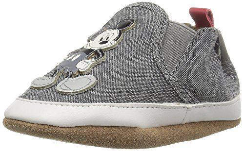 Robeez Baby Crib Shoe Old School Mickey Charcoal