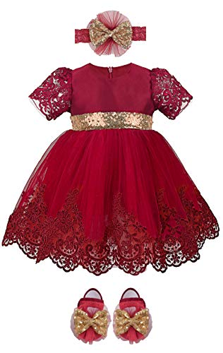 Lilax Baby Girl Newborn Lace Princess Wedding Party Dress