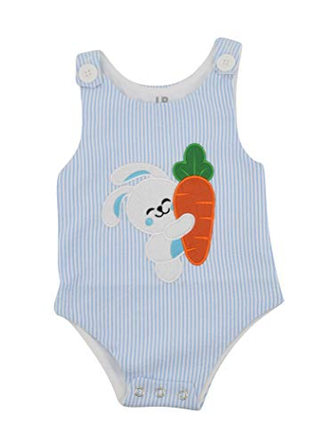 Unique Baby Boys Easter Bunny Jon Jon Outfit (12 Months) Blue
