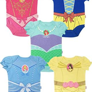 Disney Princess Baby Girls' 5 Pack Bodysuits