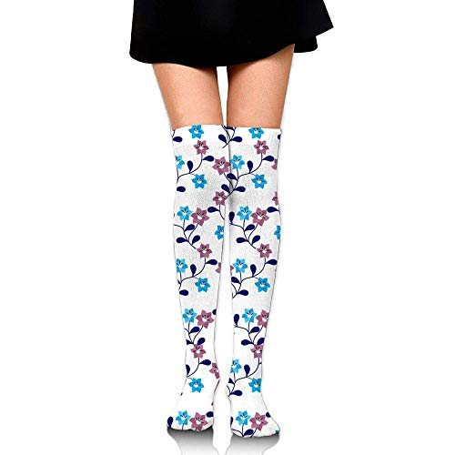 Kyliel Over the Knee Thigh High Socks,Lovely Flowers Print High Boot