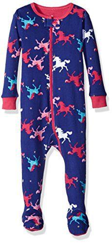 Petit Lem Girls' Printed Footed Pajamas, Circus Queen