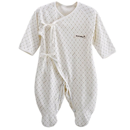 Happy Cherry Infant Baby Cotton Summer Layette Footie Romper Small