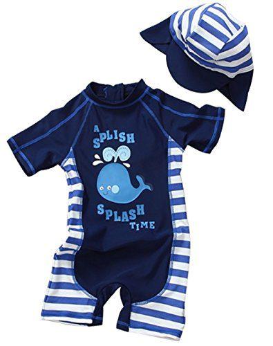 Kids Baby Boy Summer Long Sleeve One Piece Rashguard