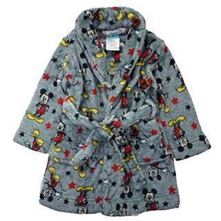 Disney Little Boys' Toddler Mickey Mouse Plush Robe