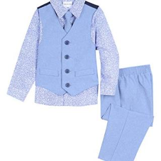 Van Heusen Baby Boys 4-Piece Patterned Dresswear Vest Set