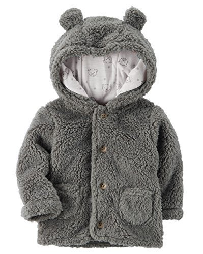 Carter's Baby 3M-24M Hooded Sherpa Jacket 9 Months