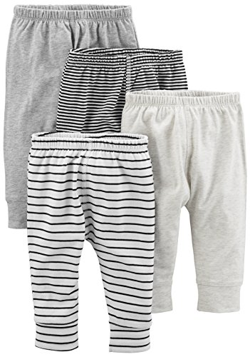 Simple Joys by Carter's Baby 4-Pack Pant, Gray Stripe