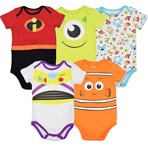 Disney Pixar Baby Boy Girl 5 Pack Bodysuits Nemo