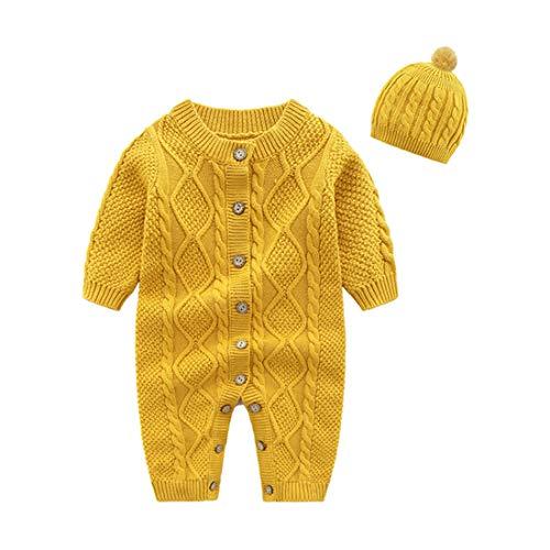 Mornyray Newborn Baby Girls Boys Sweater Jumpsuit