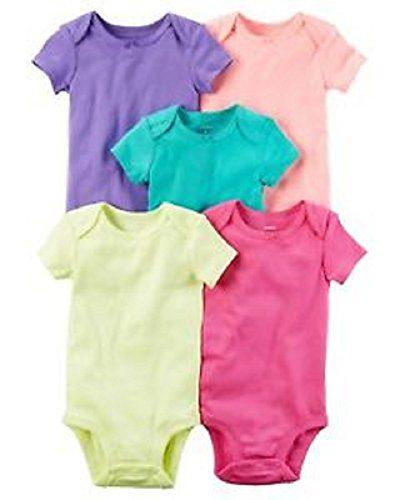 Carter's Baby Girls 5-Pack Short-Sleeve Original Bodysuits