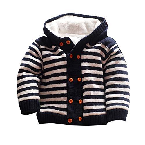 Dealone Baby Boys Hooded Cardigan Jacket Long Sleeve