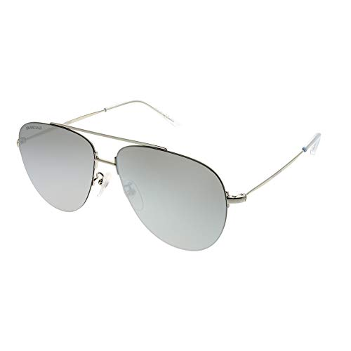 Balenciaga Sunglasses Silver Mirror Lens 59 mm
