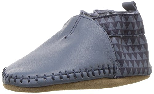 Robeez Boys' Classic Moccasin Crib Shoe Loafer Geo