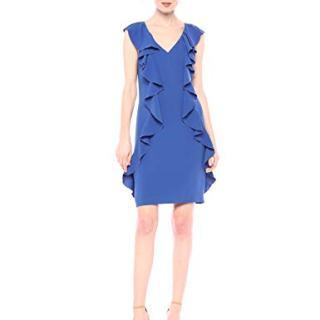 Trina Trina Turk Women's Sweetheart Ruffle Front Dress