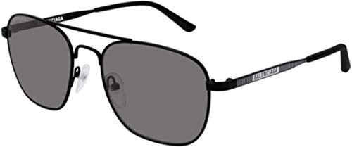 Balenciaga Sunglasses Black, Grey Glass Lens 55 mm