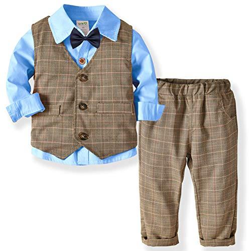DISAUR Baby Boy Outfits Suit 3 pcs Shirts + Vest + Pants
