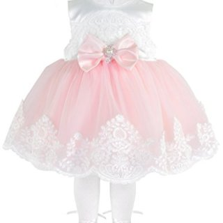 Taffy Baby Girl Newborn Pink Embroidered Princess Pageant Dress