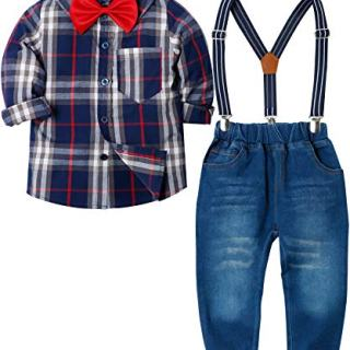 ZOEREA Toddlers Baby Boys Kids Formal Outfit Suit Set