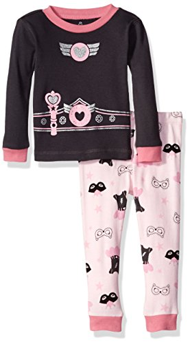 Petit Lem Boys' Pajama 2 Piece Set, Super Hero Girl, 24M