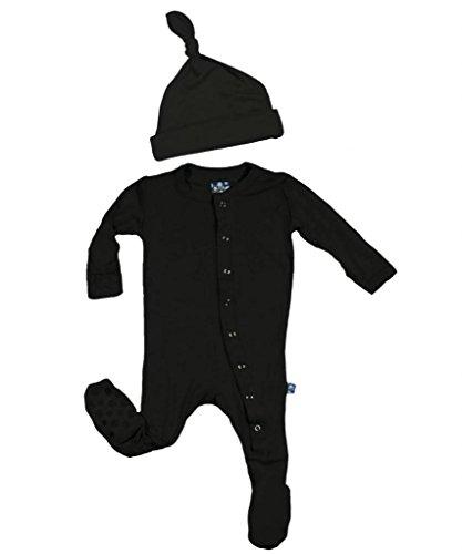 KicKee Pants Neutral Baby Footie & Hat Pajama Gift Set