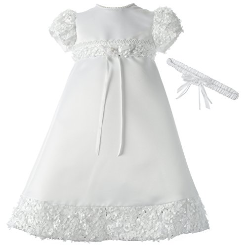 Lauren Madison Baby-Girls Newborn Satin Dress Gown Outfit