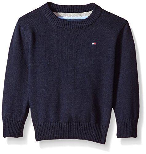 Tommy Hilfiger Baby Boys' Long Sleeve Alan Crew Neck Sweater
