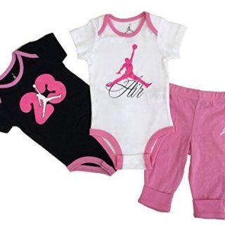 Nike Jordan New Born Baby Girl Bodysuit and Pants