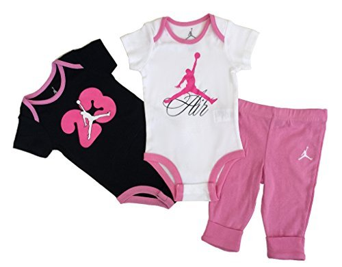 Nike Jordan New Born Baby Girl Bodysuit and Pants