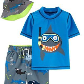 Carter's Boys' Rashguard Sets (Colorful Shark, 18 Months)