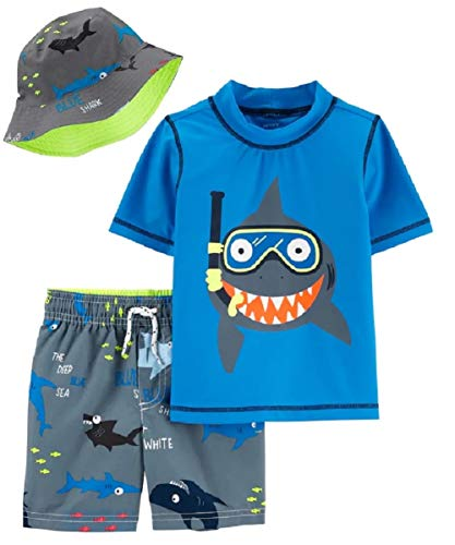 Carter's Boys' Rashguard Sets (Colorful Shark, 18 Months)