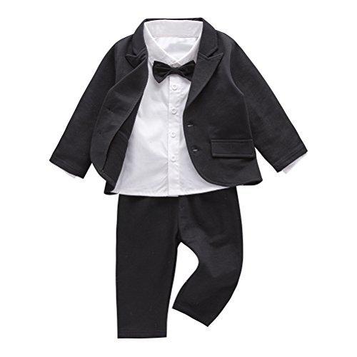 May's Baby Boys' Blazer Long Sleeves Shirts Pants Gentleman Suit
