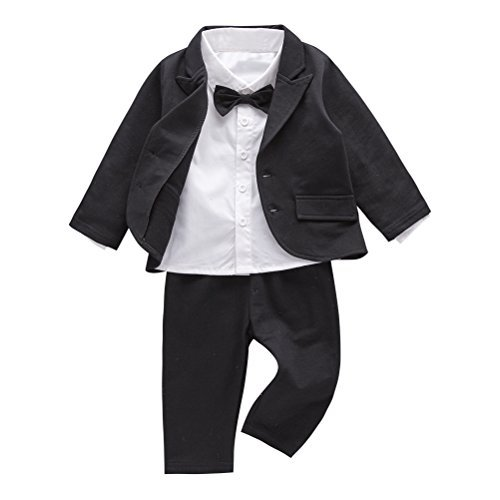 May's Baby Boys' Blazer Long Sleeves Shirts Pants Gentleman Suit