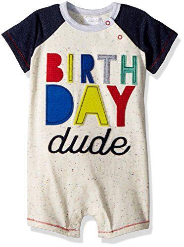 Mud Pie Baby Boys First Birthday Little Dude Shortall