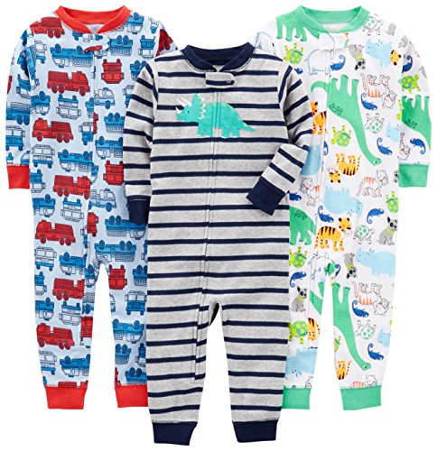 Simple Joys by Carter's Baby Boys' 3-Pack Snug Fit Footless Cotton Pajamas