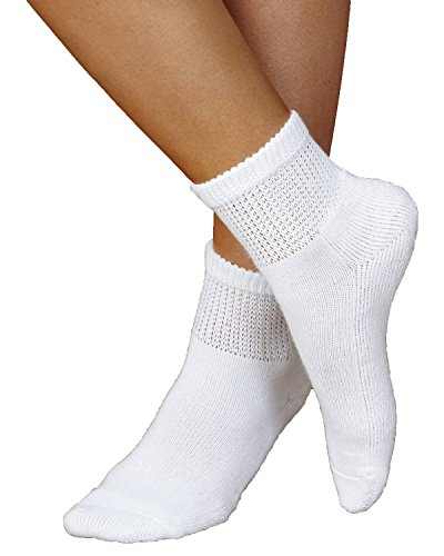 Davido Mens Diabetic Socks White