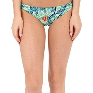 Mara Hoffman Ruched Brazilian Bottom Leaf Swimsuit Bottoms
