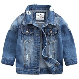 Baby Boys' Basic Denim Jacket Button Down Jeans Jacket